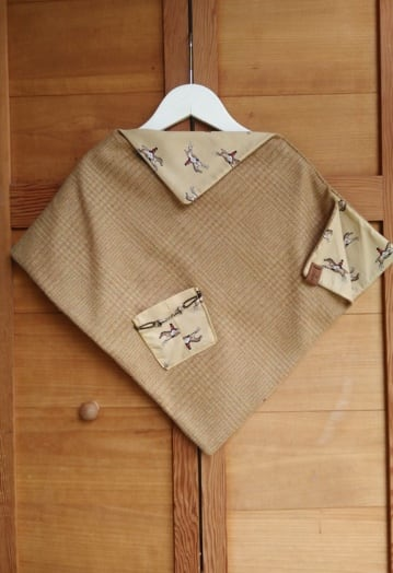 Biscuit Colour Soft Wool Cape (2–4yrs)