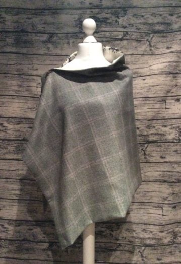 A hint of Green Country Tweed Cape