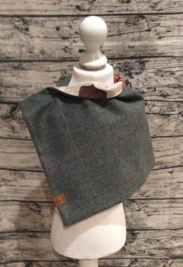 Country Green Tweed Cape – Horse Racing Lining (Toddler)