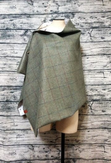 A medium Green Tweed with Equestrian lining