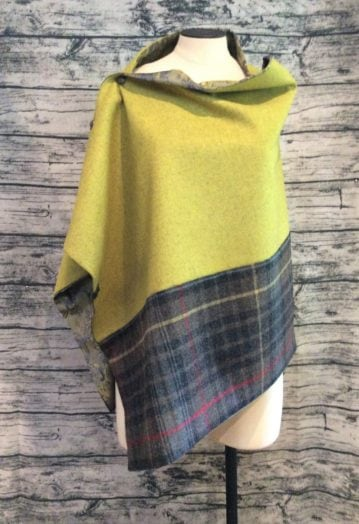 A Vibrant Mustard with two tone Brown tweed