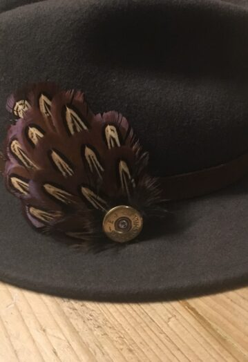 Feather Hat Pin with Cartridge embellishment